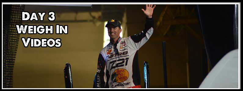 Day Three Weigh In Videos – 2016 Bassmaster Classic