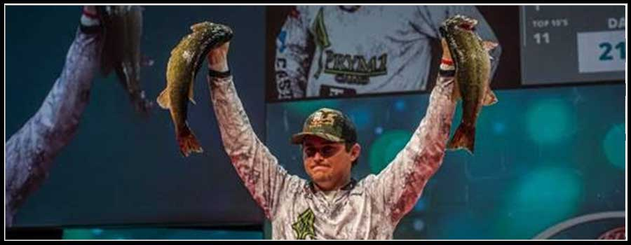Alabama Rookie Atkins Grabs Lead after Day One of Professional Bass Fishing's Forrest Wood Cup