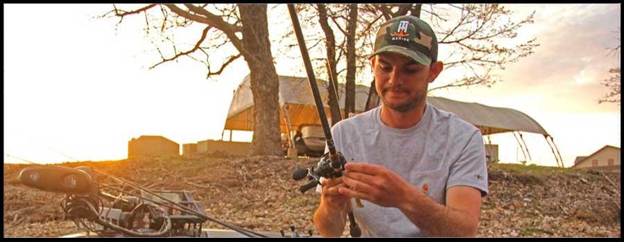 Jordan Lee Struggling to See Spawning Bass at Grand Lake