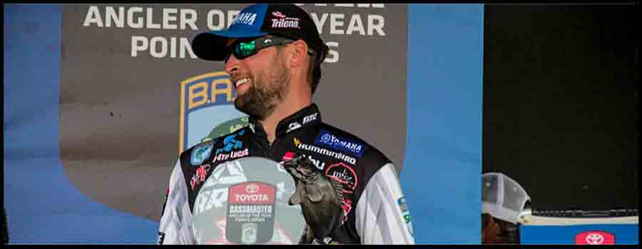 Justin Lucas Wins Toyota Bassmaster  Angler of the Year Points Title