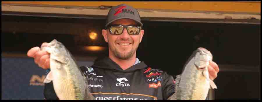 Canadian Pro Gustafson Feels At Home In Georgia, Takes Lead At Bassmaster Elite