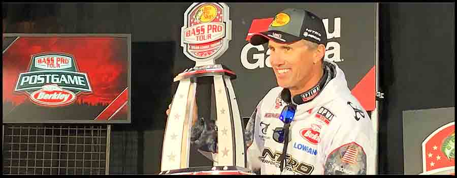 Evers Wraps up Dominating Win of Bass Pro Tour   Stage Two on Lake Conroe