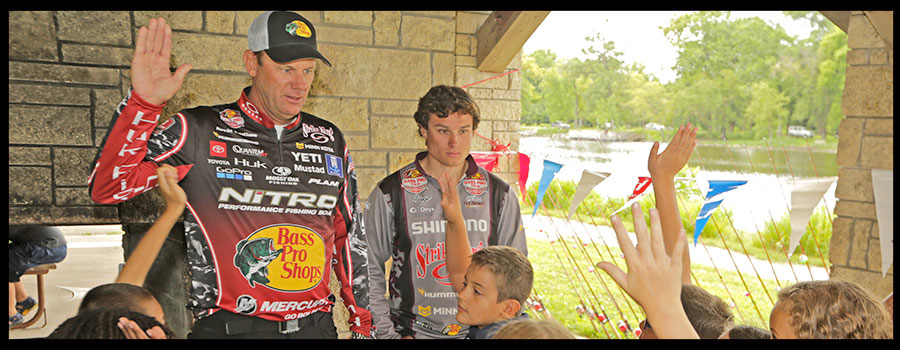 90 Kids Get a Fishing Lesson from Kevin VanDam