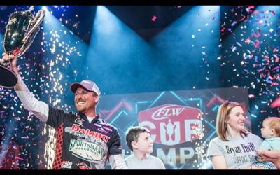 Thrift Goes Wire-to-Wire, Wins Professional Bass Fishing's 2019 FLW Cup