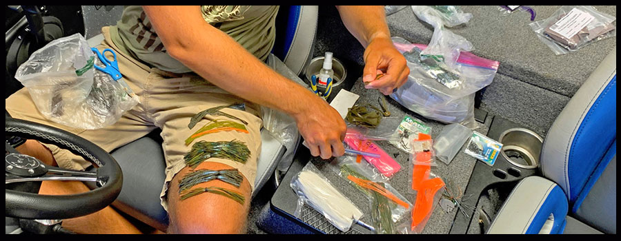 Lester Makes Custom Skirts to Fool Finicky Summer Bass