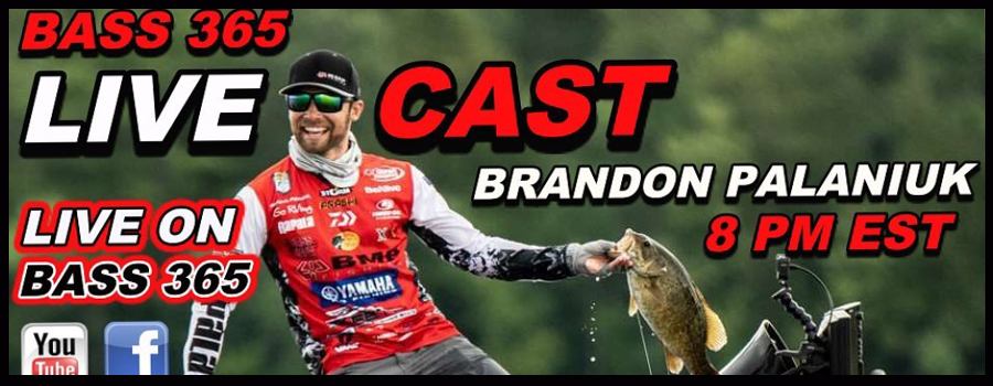 BRANDON PALANIUK talks Bassmaster ELITES on Bass 365 LIVECAST