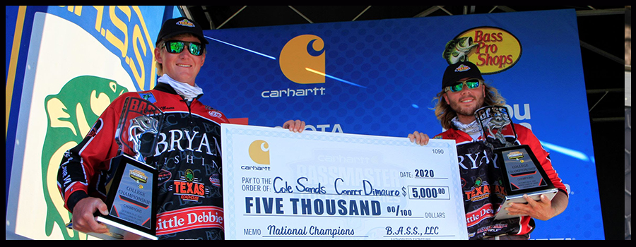 Sands And Dimauro Finish Dominant Win At Bassmaster College National Championship