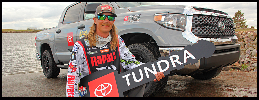 Feider's 9-pounder at Lake Fork Wins Him a Tundra