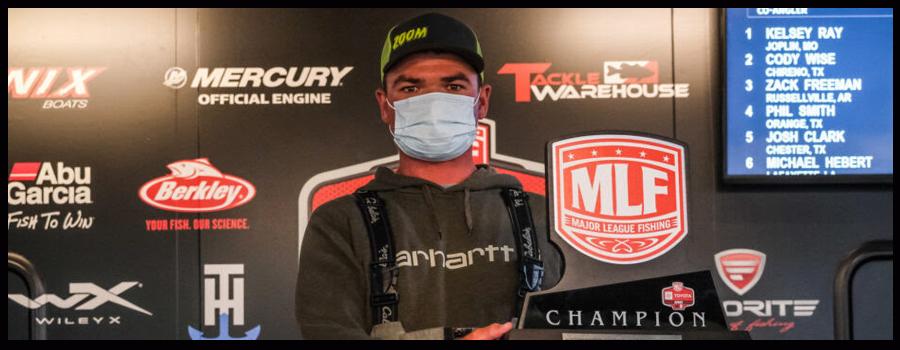 Mundy Wins Toyota Series Event on Sam Rayburn