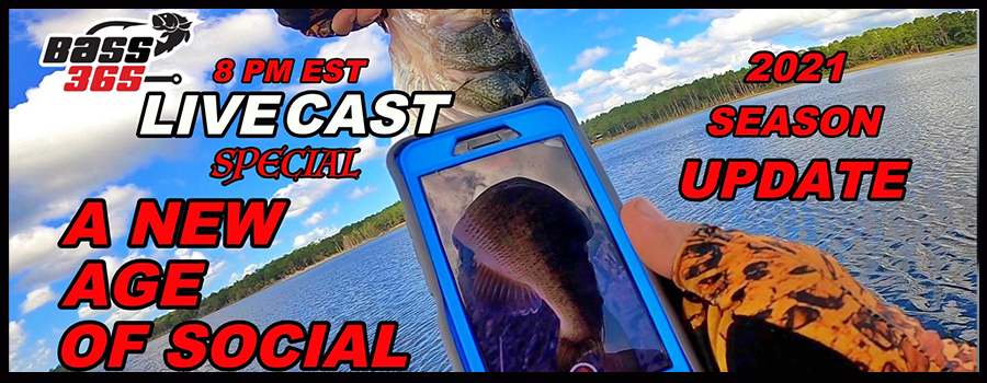 ALL NEW Social Media FOR FISHING! Bass365 LIVECAST Special
