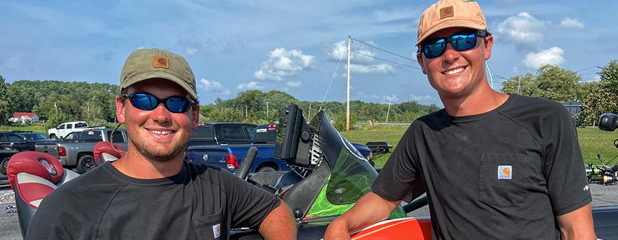Sentell and Payne Enjoying the Ride