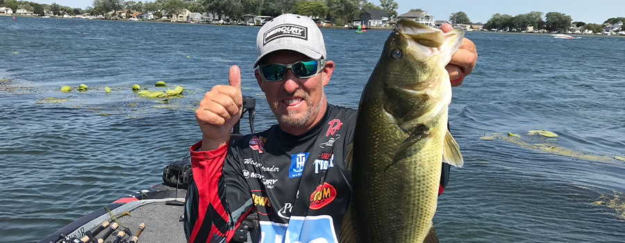Strader Targets Largemouth for Qualifying Round Win at MLF Bass Pro Tour Stage Seven at Lake St. Clair